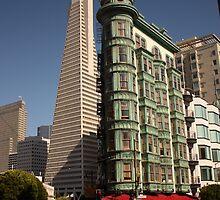 View to TransAmerica building, San Francisco by Chris Bentley