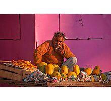 Colourful Fruit Vendor Photographic Print