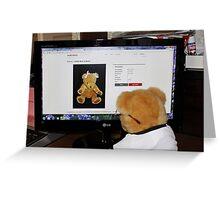 Cyber Teddy Greeting Card