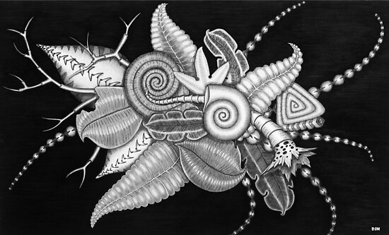 Otherworld Botany B&W by Diane Johnson-Mosley