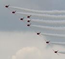 Red Arrows diagonal spread by SWEEPER