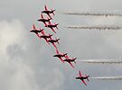 Red Arrows in the sun by SWEEPER