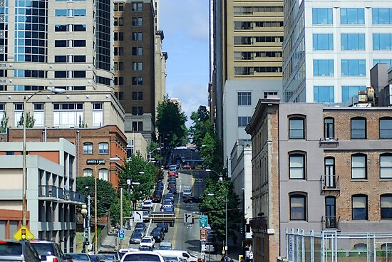 Steep Seattle Street by Tori Snow