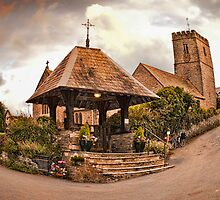 St Mary Church - Mortehoe - N Devon by Smudgers Art