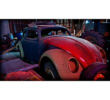 he leans against the car doors and feels the blood in his shoes Photographic Print