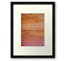 When crows fly.. Framed Print