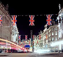 Regent street ready for the royal wedding by Vickers