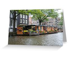 More houseboats in Amsterdam Greeting Card
