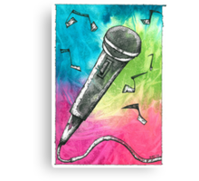 Microphone Notes Canvas Print