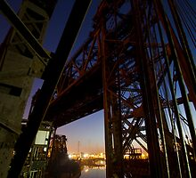 Vertical Lift Bridge at dawn by Sven Brogren