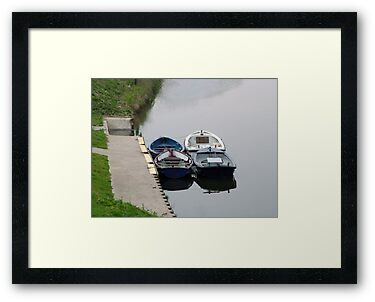 Rowing Boats on the River Aire near Leeds by Terry Senior