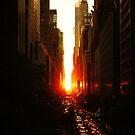 Manhattanhenge Sunset Midtown New York City by Vivienne Gucwa