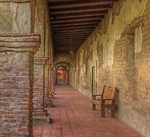 Mission Bench (San Juan Capistrano Spanish Mission, California) by Brendon Perkins