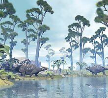 Ankylosaurus by Walter Colvin