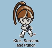 Martial Arts/Karate Girl - Front punch - Kick, Punch, Scream Kids Clothes