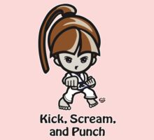 Martial Arts/Karate Girl - Front punch - Kick, Punch, Scream by fujiapple