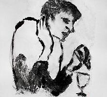 despondent figure by Loui  Jover
