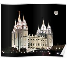 Salt Lake Temple by moonlight 20x24 Poster