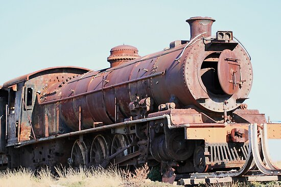 Ou stoomtrein – Klipplaat – Old Steam Locomotive by Rina Greeff