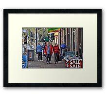 Women Shop Till They Drop! Framed Print