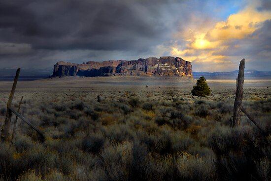 Fort Rock by Charles & Patricia   Harkins ~ Picture Oregon