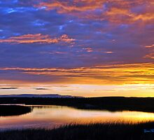 sunset clear creak,winslow Az by gene mcfarland
