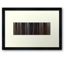 Moviebarcode: Back to the Future Trilogy (1985-1990) Framed Print