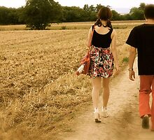 A dancing skirt,  red trousers and french countryside by Clo Sed