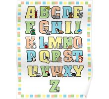 Animal Alphabet Poster Poster