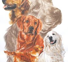 Golden Retriever with Ghost Image by BarbBarcikKeith