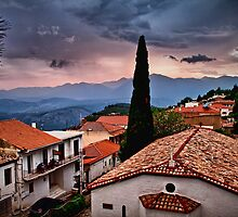 Greece. Town of Delphi. Twilight. by vadim19