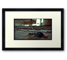 the party is over Framed Print
