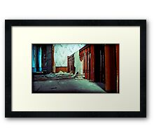 the stairs sound so lonely without you Framed Print