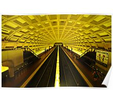 Gold Tunnel in D.C. Poster