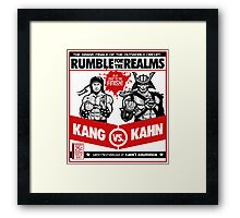 Let's Get Ready to Kombat! Framed Print