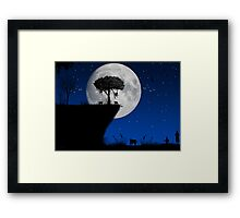 Night time comes Framed Print