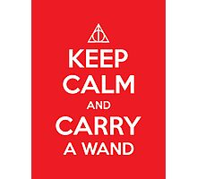 Keep Calm and Carry a Wand Photographic Print