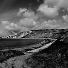 Worbarrow Bay In Black & White by delros