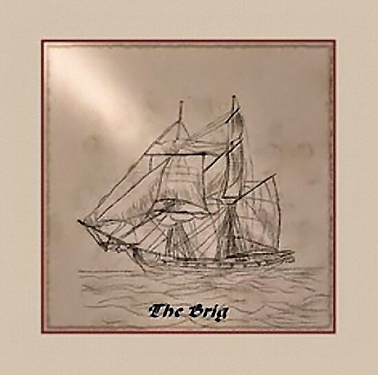 My First Sailing Ship Sketch by Dennis Melling