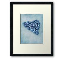 I love blueberries Framed Print
