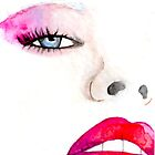 """Faces of Fashion"" No.1 Fashion Illustration by Chelsea Easley"