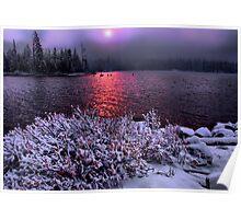 Big Lake Snow Storm Poster
