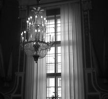 Crystal Chandelier & Window by Lucinda Walter