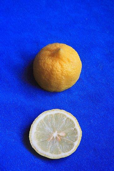 Lemon on Blue by Steve Outram