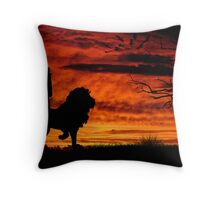 Lion and Lioness Throw Pillow