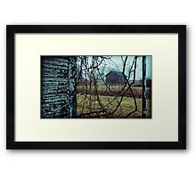 now they surrounded the house Framed Print