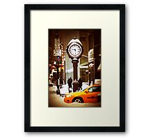 Snowtime in NY Framed Print