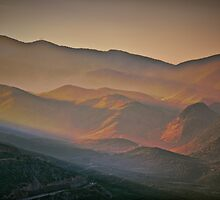 Greece. Hills of Delphi. Sunrise. by vadim19