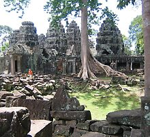 Khmer temple by machka