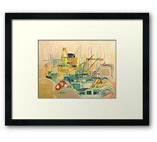 port observation spain Framed Print
